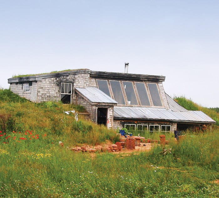 Rock Barra's bermed sod roof house