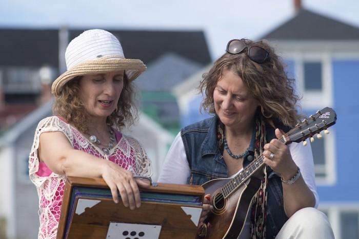 Teresa Doyle and October Browne at The Lunenburg Folk Festival