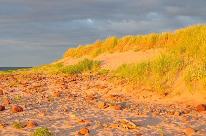 Long shadows on the beach at Rock Barra Retreat