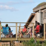 Gathered on the deck at Rock Barra Retreat
